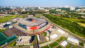 Aerial panoramic view of Spartak Stadium in Moscow Stock Photography