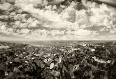 Aerial panoramic view of St Augustine, Florida.  Stock Photos