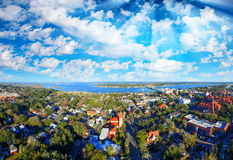 Aerial panoramic view of St Augustine, Florida Royalty Free Stock Image