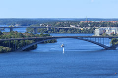 Aerial panoramic view of Stockholm, Sweden Royalty Free Stock Photography