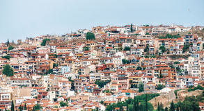Aerial panoramic view of the Thessaloniki city Royalty Free Stock Photography