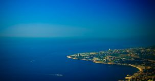 Aerial panoramic view to Jounieh city and bay, Lebanon Royalty Free Stock Photos