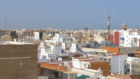Aerial Panoramic View Of Valencia City. In Spain stock video