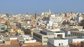 Aerial Panoramic View Of Valencia City. In Spain stock video footage