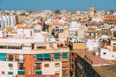 Aerial Panoramic View Of Valencia City Stock Images