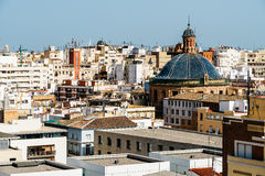 Aerial Panoramic View Of Valencia City Royalty Free Stock Photo