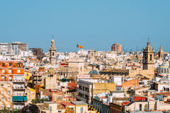 Aerial Panoramic View Of Valencia City Royalty Free Stock Image