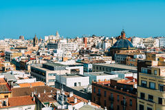 Aerial Panoramic View Of Valencia City Stock Photo
