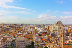 Aerial panoramic view of Valencia, Spain. Royalty Free Stock Photos