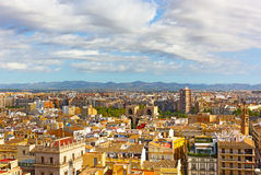Aerial panoramic view of Valencia, Spain. Stock Image