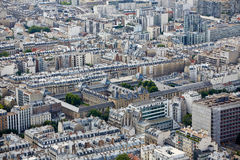 Aerial Paris city skyline Royalty Free Stock Photos