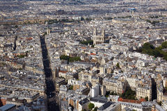 Aerial Paris skyline in France Royalty Free Stock Photography
