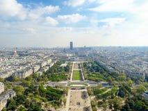 aerial paris view στοκ φωτογραφίες με δικαίωμα ελεύθερης χρήσης