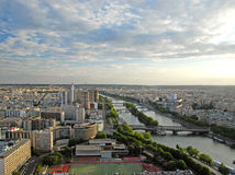 Aerial Paris view Stock Photography