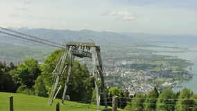 Aerial passenger line to Pfander mountain in Austria Stock Photography