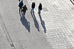 Aerial of passers-by Stock Image
