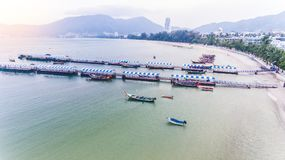 Aerial Patong Beach Royalty Free Stock Image