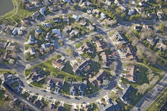 Aerial pattern of residential homes Stock Image