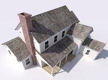 Aerial perspective of beautiful big house royalty free illustration