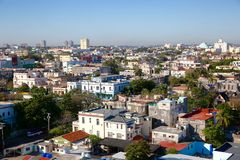 Aerial Perspective of Havana, Cuba`s Downtown Royalty Free Stock Image