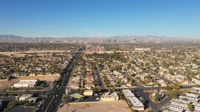 Aerial perspective over downtown Las Vegas