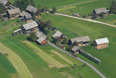 Aerial perspective on a small village Royalty Free Stock Photo