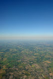 Aerial photo. Of summer landscape from 5000 feet in Northern Germany stock photo