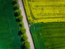 Aerial photo of agricultural fields. Aerial photo of some agricultural fields Stock Photo