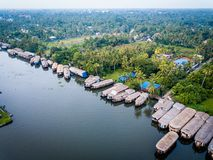 Aerial photo of Alappuzha India. Birds eye view photo of Alappuzha, India Royalty Free Stock Photo