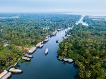 Aerial photo of Alappuzha India. Birds eye view photo of Alappuzha, India Stock Images