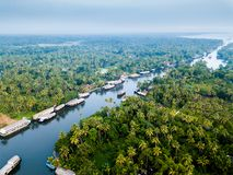 Aerial photo of Alappuzha India. Birds eye view photo of Alappuzha, India Stock Photos