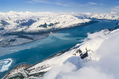 Aerial photo of Alaska Hubbard Glacier Stock Photos