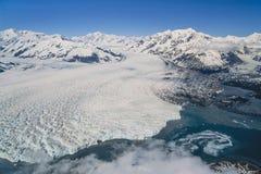 Aerial photo of Alaska Hubbard Glacier. Aerial photos, aerial images of Alaska stock photos