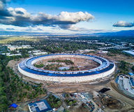 Aerial photo of Apple new campus under construction in Cupetino Royalty Free Stock Photography