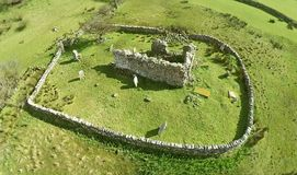Aerial photo of a Church Co. Antrim. Aerial photo of Ardclinis, an old Church Co. Antrim Co. Antrim N.I royalty free stock images