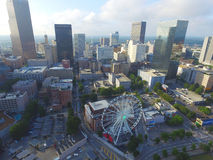 Aerial photo of Atlanta Georgia Royalty Free Stock Images