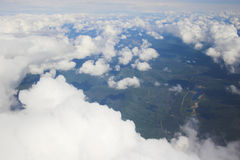 Aerial photo backgrounds Royalty Free Stock Photo