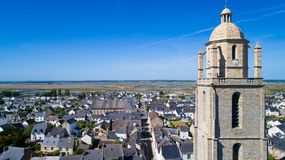 Aerial photo of Batz sur Mer village Stock Photography