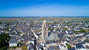 Aerial photo of Batz sur Mer village Stock Photo