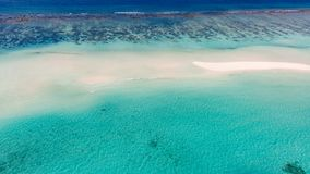 Aerial photo of beautiful paradise Maldives tropical beach on island. Summer and travel vacation concept. royalty free stock image