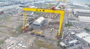 Aerial photo Belfast City Co Antrim Northern Ireland. Aerial photo of Belfast City Co. Antrim Northern Ireland stock photography