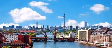 Aerial photo berlin skyline Royalty Free Stock Photos