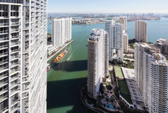 Aerial photo of Brickell Miami Stock Image