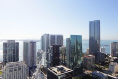 Aerial photo Brickell Miami Stock Images