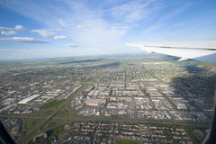 Aerial photo of calgary Royalty Free Stock Photography