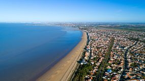 Aerial photo of Chatelaillon beach in Charente Maritime. Aerial view of Chatelaillon in Charente Maritime, France royalty free stock photos