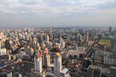 Aerial photo of the City of Bangkok skyline Stock Photography