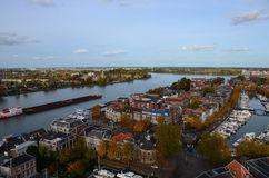 Aerial photo of the city Dordrecht, Netherlands Stock Photography