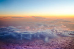 Aerial photo of clouds Royalty Free Stock Image