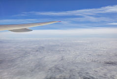 Aerial photo of the cloudscape stretching all the way to the horizon Royalty Free Stock Photo